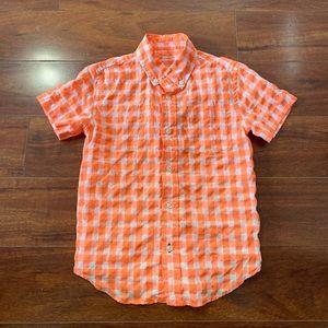 Crewcuts Boys Button Check Size 6 7 Orange Plaid
